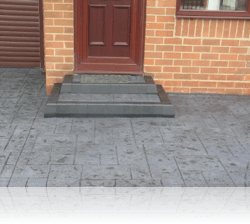 Tiered Boot Kerb Steps in Ashlar Slate