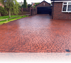 PROJECT 1 - AFTER - Country Cobble Driveway in Brick Red