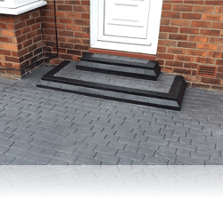 Tiered Step in Country Cobble